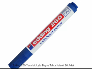 Edding 260 Yuvarlak Uçlu Beyaz Tahta Kalemi 10 Adet x 10 Paket