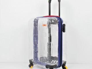 Tekerlekli şeffaf valiz