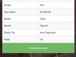 KONYA ÇALDERE KÖYÜNDE 63.700 m2 TARLA MUHTEŞEM FİYATA