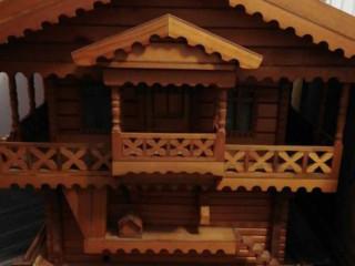 ahşap el yapımı ev ( aydınlatmalı )