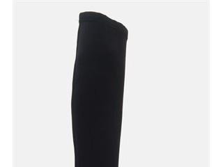SHIVA Black Strech Rugan Detaylı Bayan Çizme
