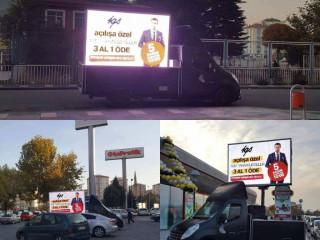 Mobil LED Ekran Reklam Araçları kiralık & satılık