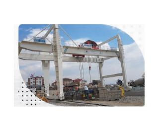 Konya Çift Kiriş Portal Vinç - Konya Double Girder Gantry Crane