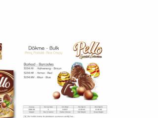 Pello Pirinç Patlaklı Dökme Çikolata Çeşitleri - Pello Rice Puffed Bulk Chocolate Types