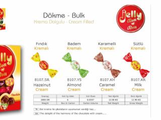 Jelly Bon Krema Dolgulu Dökme Çikolata - Jelly Bon Cream Filled Bulk Chocolate