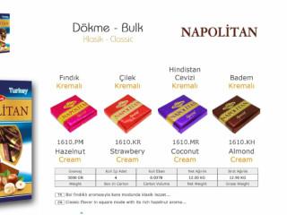 Napolitan Klasik Dökme Çikolata Çeşitleri - Napolitan Classic Bulk Chocolate Varieties