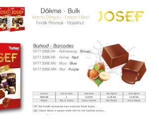 Josef Krema Dolgulu Dökme Çikolata Çeşitleri - Josef Cream Filled Bulk Chocolate Types