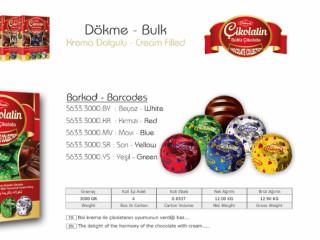 Çikolatin Krema Dolgulu Dökme Çikolata Çeşitleri - Chocolate Cream Filled Bulk Chocolate Types