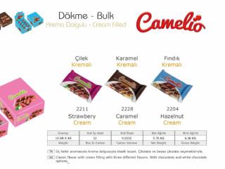 Camelio Krema Dolgulu Dökme Çikolata Çeşitleri - Camelio Cream Filled Bulk Chocolate Types