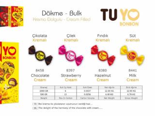 Tuyo Krema Dolgulu Dökme Çikolata Çeşitleri - Tuyo Cream Filled Bulk Chocolate Types