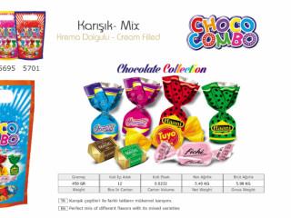 Choco Combo Krema Dolgulu Karışık Çikolata Çeşitleri - Choco Combo Cream Filled Mixed Chocolate Varieties