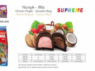 Supreme Krema Dolgulu Karışık Çikolata Çeşitleri - Supreme Cream Filled Mixed Chocolate Varieties