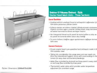 Doktor El Yıkama Ünitesi - Üçlü / Doctor Hand Washing Unit - Triple