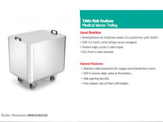 Tıbbi Atık Arabası - Medical Waste Trolley