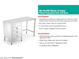 Alçı Hazırlık Masası ve Evyesi - Plaster Preparation Desk And Basin