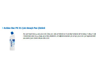 Acidex Bac PX 01 Çok Amaçlı Pas Çözücü