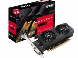 MSI VGA RADEON 550 2GT LP OC 2GB GDDR5 64B DX12 PCIE 3.0 X16 (1XDVI 1XHDMI) EKRAN KARTI