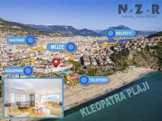 Alanya Damlataş'ta Deniz Manzaralı Satılık 3+1 Daire & Sea Viewed 3+1 Apartment on Damlataş Alanya