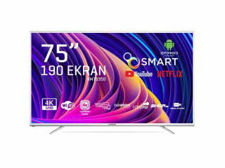 "Nordmende NM75350 75"" 190 Ekran Android Smart Uydu Alıcılı 3840 x 2160 Ultra Hd Led Televizyon"