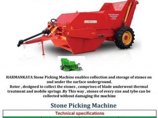stone picking machina Taş Toplama Makinası