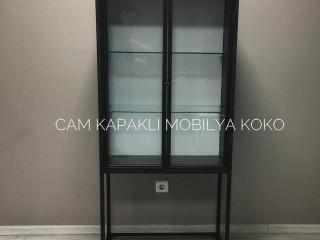 Koko Cam Kapaklı Dolap
