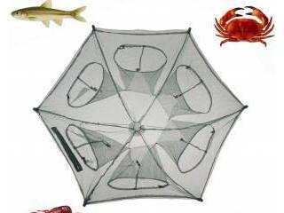 Katlanabilir Balık Yengeç Tuzağı 6 Girişli Balık Ağı Tuzak