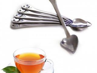 6 Adet Kalp Tasarımlı Çay Kaşıkları