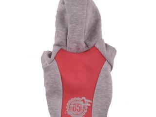 Pembe Gri Parçalı Sayı Baskılı Köpek Sweatshirt (Xsmall)