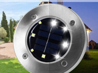 Solar Güneş Enerjili 8 ledli Kazıklı Çim Zemin Bahçe Aydınlatması 4 Lü