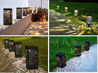 Dekoratif Solar Güneş Enerjili Bahçe Aydınlatması Yürüyüş Yolu Seti ( 8 Adet )