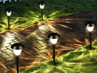 Büyük Boy Güneş Enerjili Solar Bahçe Lambası Siyah 4 Lü Set