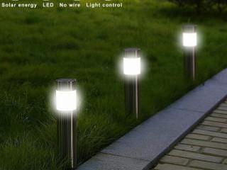 Boru Görünümünde Metal Gövdeli Güneş Enerjili Solar Bahçe Lambası 12 Li Set