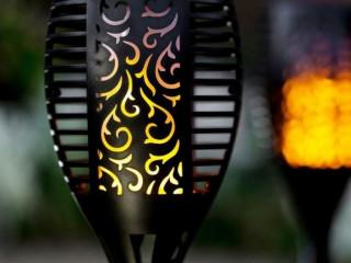 Alev Efektli Solar Bahçe Lambası (58 cm)