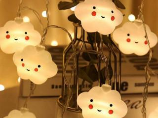 10 Adet Bulut Şeklinde Led Şerit Lamba