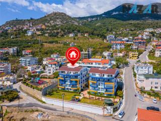 Alanya Büyükhasbahçe'de Satılık Deniz Manzaralı Bahçe Dubleksi & Garden Duplex with Sea View for Sale in Alanya Büyükhasbahçe