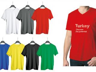 Penye V Yaka T-shirt