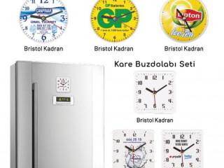Yuvarlak Buzdolabı Saati ( 10 cm )