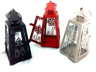Dekoratif Metal Fener Tealight Mumluk