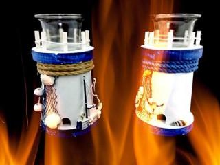 Dekoratif Marin Deniz Feneri Mumluk