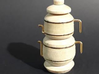 Ahşap Boyanabilir Çaydanlık Tasarım Magnet