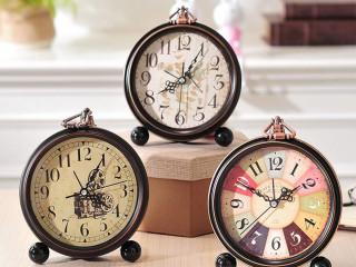 Desenli Dekoratif Çalar Saat