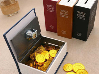 Kitap Şeklinde Mini Boy Kilitli Kasa Ve Kumbar