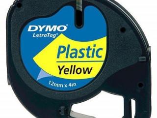 DYMO Letratag Şerit Plastik Sarı Etiket 12mm x 4m - 721620 59423