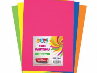Puti 50*70 Fosforlu Fon Kartonu Yeşil