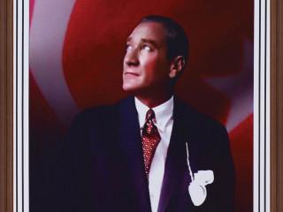 Panda Atatürk Portresi (Mdf Çerçeve) 35X50