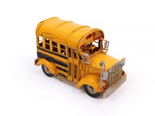 El Yapımı Metal Okul Otobüsü