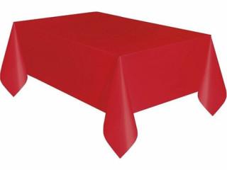 Plastik Masa Örtüsü Kırmızı Renk 137x270 cm -