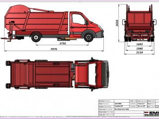 EMS den Çöp kamyonu kasasi
