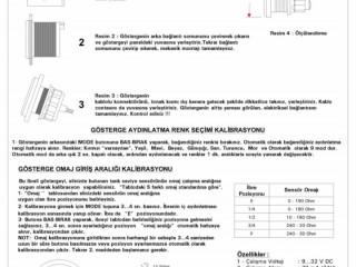 Yakıt Tank ve Depo Seviye Göstergesi - İbreli - 8 Renk Aydınlatma Seçeneği
