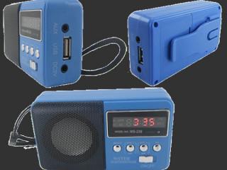 Wster-239 Şarjlı Hafıza Kartı Girişli FM Radyolu USB Hoparlör